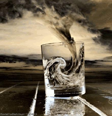 Анимация Ураган, выходящий из стакана (© zmeiy), добавлено: 24.03.2015 21:55