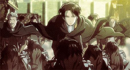 Анимация Леви Райвель (Ривай) / Levi Rivaille (Rivai) из аниме Shingeki no Kyojin / Атака Титанов