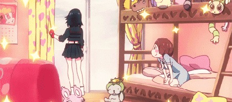 Анимация Матой Рюко / Matoi Ryuuko и Мако Манкансеку / Mako Mankanseku из аниме Круши Кромсай / Kill la Kill (© Maya Natsume), добавлено: 25.03.2015 22:56