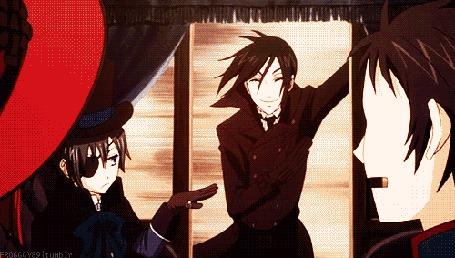 Анимация Sebastian Michaelis / Себастьян Михаэлис и Ciel Phantomhive / Сиэль Фантомхайв из аниме Темный Дворецкий / Kuroshitsuji (© Maya Natsume), добавлено: 25.03.2015 23:05