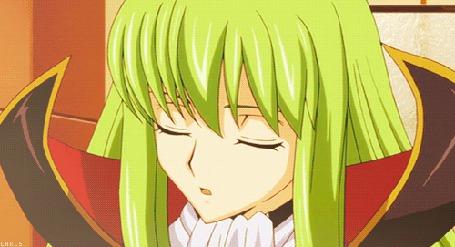 Анимация Девушка с зелеными волосами, момент из аниме Code Geass Hangyaku no Lelouch / Код Гиас Восставший Лелуша (© Kuppuru), добавлено: 04.04.2015 10:32