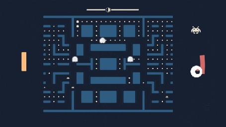 Анимация Дизайнер Дик Поэлен / Dick Poelen разработал игру, в которой объединены сразу три классические аркады: Pac-Man, Pong и Space Invaders (© Anatol), добавлено: 13.04.2015 22:02