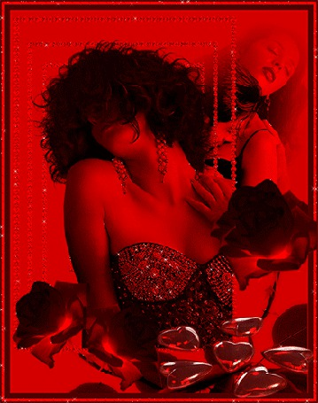 Анимация Две девушки на красном фоне (© elenaiks), добавлено: 14.04.2015 12:17