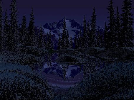 Анимация Смена дня и ночи в горной долине (© Anatol), добавлено: 15.04.2015 00:39
