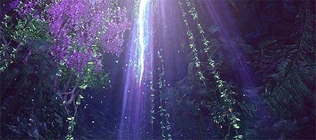 Анимация Падающие лепестки освещаются светом (© zmeiy), добавлено: 19.04.2015 12:14
