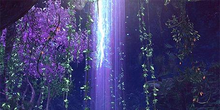Анимация Падающие лепестки освещаются светом (© zmeiy), добавлено: 19.04.2015 12:17