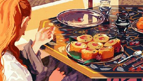 Анимация Девушка сидит за столом (© Krista Zarubin), добавлено: 19.04.2015 13:16