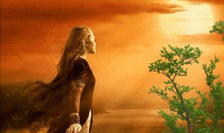 Анимация Девушка стоит лицом к Солнцу, встречая рассвет (© Akela), добавлено: 21.04.2015 23:37