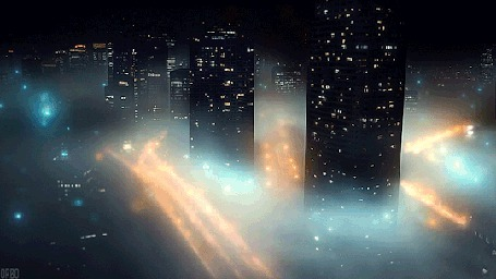 Анимация Город укутанный туманом, by Orbo (© Seona), добавлено: 22.04.2015 12:04