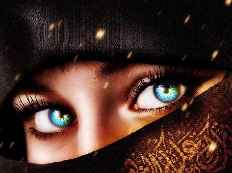 Анимация Красивые глаза девушки в восточном наряде (© Akela), добавлено: 22.04.2015 17:11