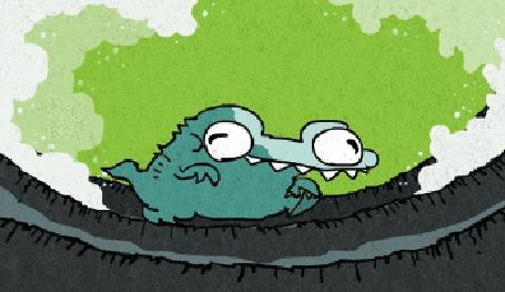 Анимация Динозаврик бежит, быстро перебирая лапками (© Anatol), добавлено: 23.04.2015 01:15