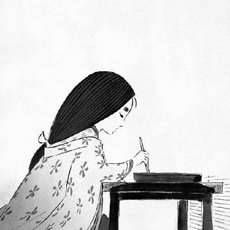 Анимация Девушка сидит за столом и рисует (© zmeiy), добавлено: 26.04.2015 22:25
