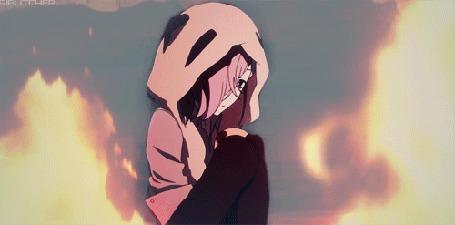 Анимация Юноша среди огня, кадр из аниме Ан-Го / Un-Go (© Kuppuru), добавлено: 27.04.2015 17:34