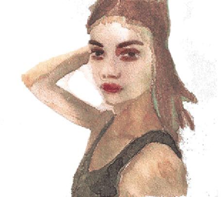 Анимация Рисованная девушка распускает волосы (© zmeiy), добавлено: 28.04.2015 08:36