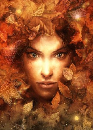 Анимация Лицо девушки среди осенних листьев (© Arinka jini), добавлено: 29.04.2015 00:39
