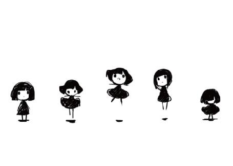 Анимация Девушки прыгают на месте на белом фоне (© Мася-тян), добавлено: 29.04.2015 01:37
