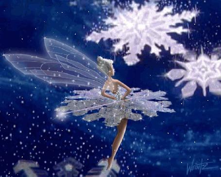 Анимация Девушка-эльф в платье снежинки (© Ловетта), добавлено: 29.04.2015 13:35