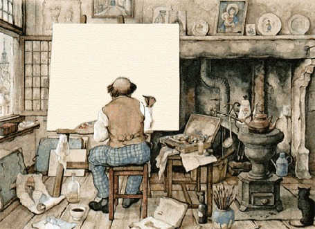 Анимация Старый художник рисует на холсте портрет девушки (© Akela), добавлено: 01.05.2015 04:13