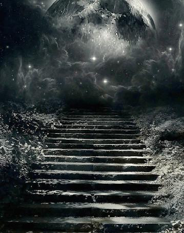 Анимация Движущаяся лестница, ведущая в облака (© zmeiy), добавлено: 01.05.2015 12:24