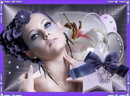 Картинки мерцающие красивые девушки в цветах