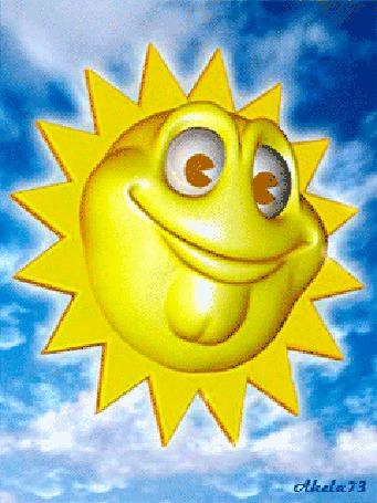 Анимация Веселое Солнышко на голубом небе, Akela 73 (© Akela), добавлено: 02.05.2015 20:48
