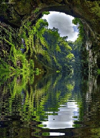 Анимация Природа и ее отражение в воде (© zmeiy), добавлено: 03.05.2015 07:46