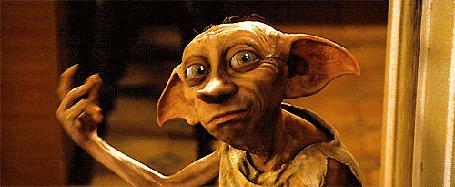 Анимация Домовой эльф Добби / Dobby из фильма Гарри Поттер / Harry Poter щелкает пальцами до искр (© zmeiy), добавлено: 03.05.2015 08:09