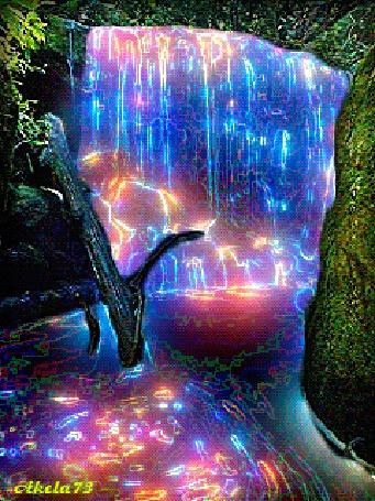 Анимация Красивый разноцветный водопад с водоворотом, Akela 73 (© Akela), добавлено: 04.05.2015 01:31
