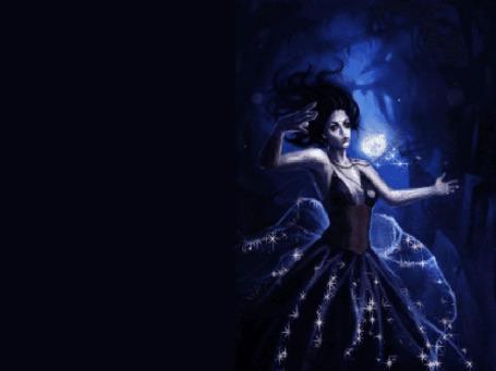 Анимация Фея в блестящем платье