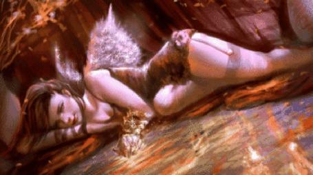Анимация Ангельская девушка с блестящими крыльями (© zlaya), добавлено: 04.05.2015 11:20