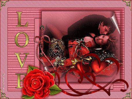 Анимация Праздник, день влюбленных, мужчина держит в объятиях девушку, цветок роза (любовь) (© Valensia), добавлено: 05.05.2015 13:39