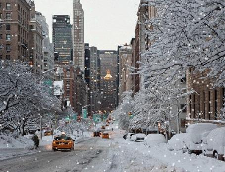 Анимация Снегопад на зимней улице города (© Akela), добавлено: 07.05.2015 21:13