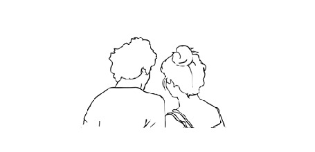 Анимация Парень нежно обнимает девушку