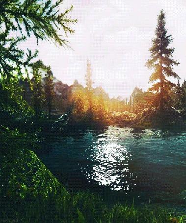 Анимация Лесной ручей на рассвете дня (© Кофе мой друг), добавлено: 10.05.2015 11:15
