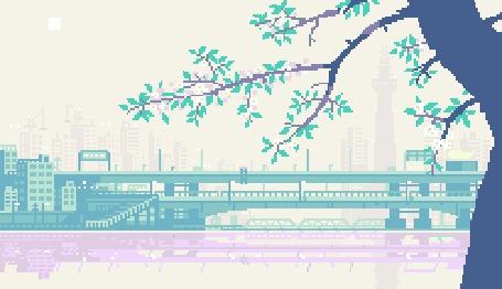 Анимация Дерево на фоне города (© Кофе мой друг), добавлено: 10.05.2015 11:17