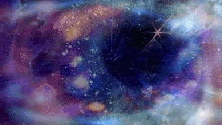 Анимация В зрачке глаза вселенная (© zmeiy), добавлено: 12.05.2015 19:35