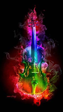 Анимация Скрипка в разноцветном дыму (© zmeiy), добавлено: 12.05.2015 22:48