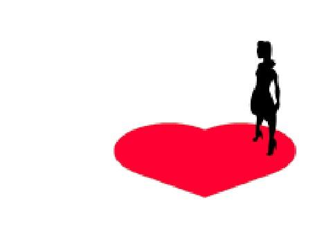 Анимация Парень бежит к девушке, которая стоит на сердечке, добегая до него, он падает (© zmeiy), добавлено: 14.05.2015 10:49