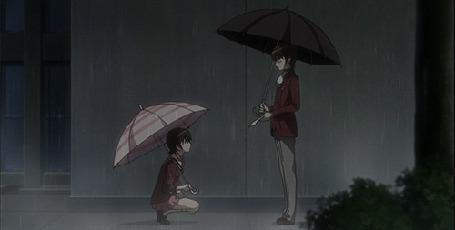 Анимация Парень и девушка с зонтами под дождем (© zmeiy), добавлено: 14.05.2015 16:27
