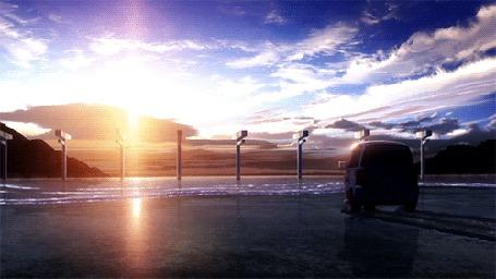 Анимация Автомобиль стоит на берегу моря (© zmeiy), добавлено: 14.05.2015 17:10