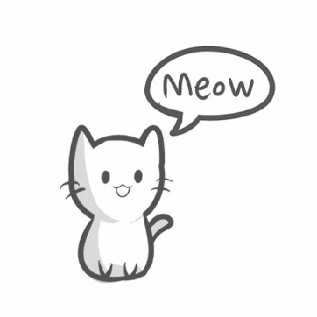 Анимация Кот машет хвостом и мяукает Meow (© Solist), добавлено: 15.05.2015 00:19