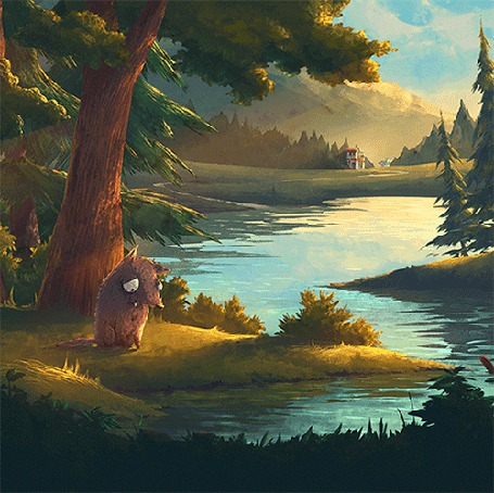 Анимация Волк грустит на берегу реки (© chucha), добавлено: 16.05.2015 00:14