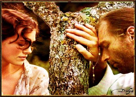 Анимация У дерева стоят девушка и мужчина священник (© ДОЛЬКА), добавлено: 17.05.2015 20:34