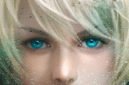 Анимация Девушка с грустными глазами, смотрит сквозь дождливое стекло (© Bezchyfstv), добавлено: 20.05.2015 00:08