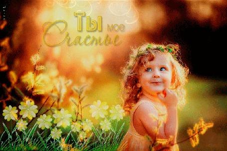 Анимация Девочка с веночком на голове возле весенних цветов, Ты мое Счастье, Лилия (© Natalika), добавлено: 20.05.2015 18:39