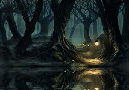 Анимация Магический лес со светящимися фонарями (© zmeiy), добавлено: 20.05.2015 20:47