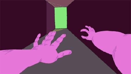 Анимация Мужчина убегает от монстра по коридору (© Seona), добавлено: 21.05.2015 12:01