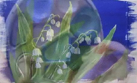 Анимация Рука художницы рисует ландыш (© Георгий Тамбовцев), добавлено: 21.05.2015 12:58