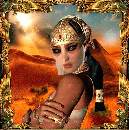 Анимация Восточная девушка на фоне пустыни (© qalina), добавлено: 23.05.2015 20:00