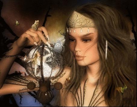 Анимация Фонтастическая девушка с фонариком в руке (© qalina), добавлено: 26.05.2015 03:57